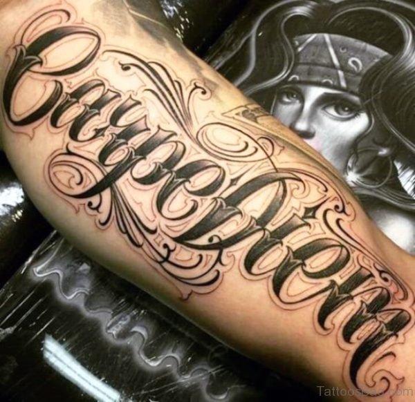 Elegant Carpe Diem Tattoo On Arm