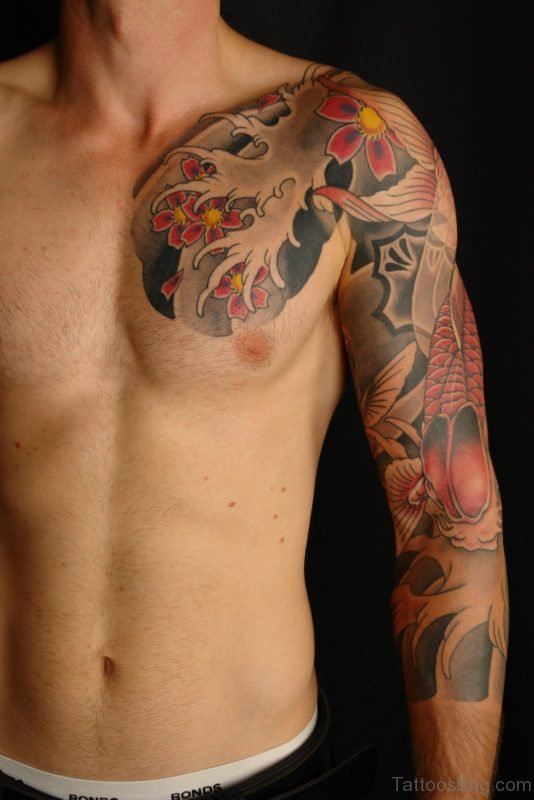 Elegant Chest Tattoo