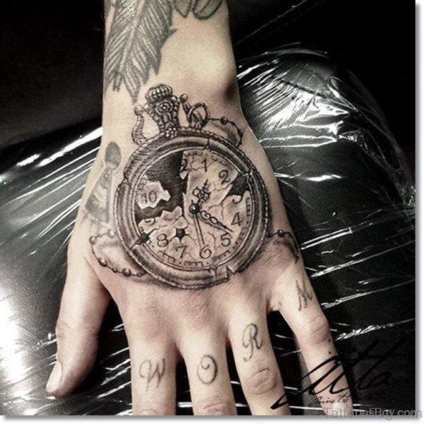 Elegant Clock Tattoo