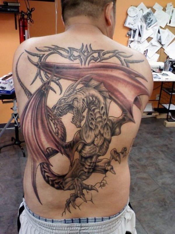 Elegant Dragon Tattoo