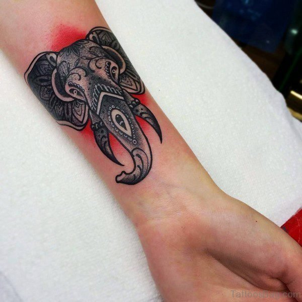 Elegant Elephant Tattoo On Forearm