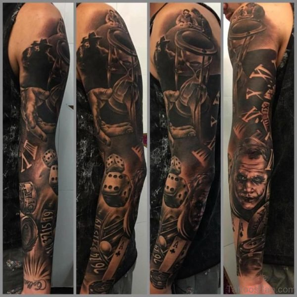 Elegant Full Sleeve Tattoo