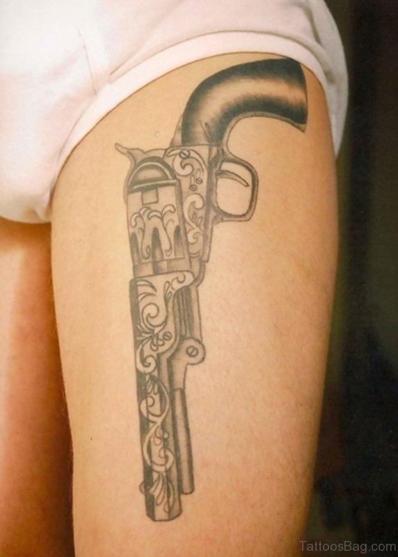 Elegant Gun Tattoo