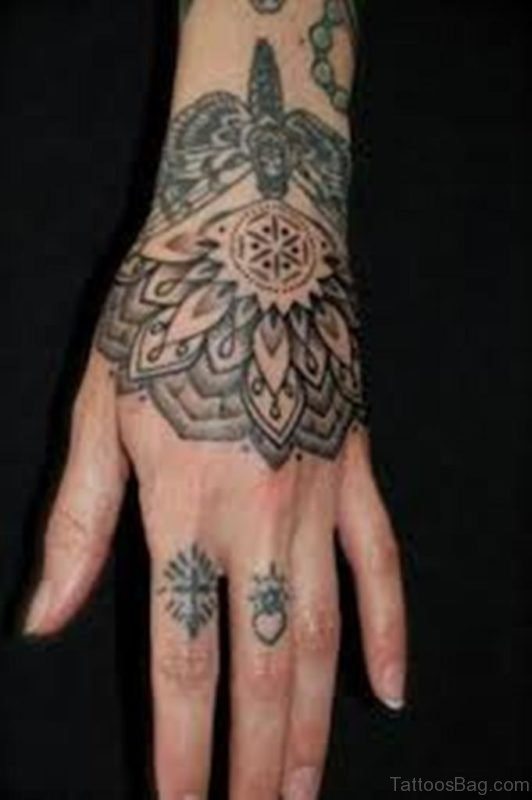 Elegant Mandala Tattoo On Hand