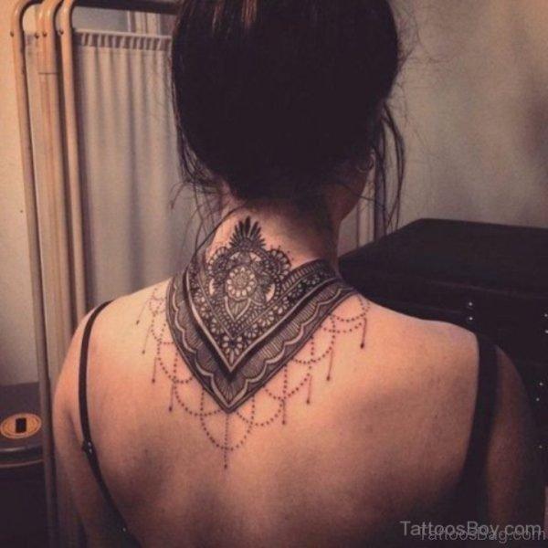 Elegant Mandala Tattoo On Nape