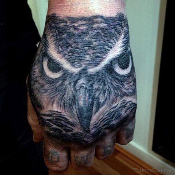 Elegant Owl Tattoo