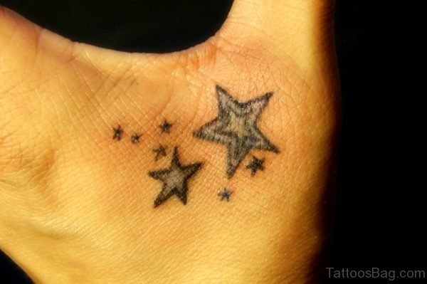 Elegant Star Tattoo On Hand