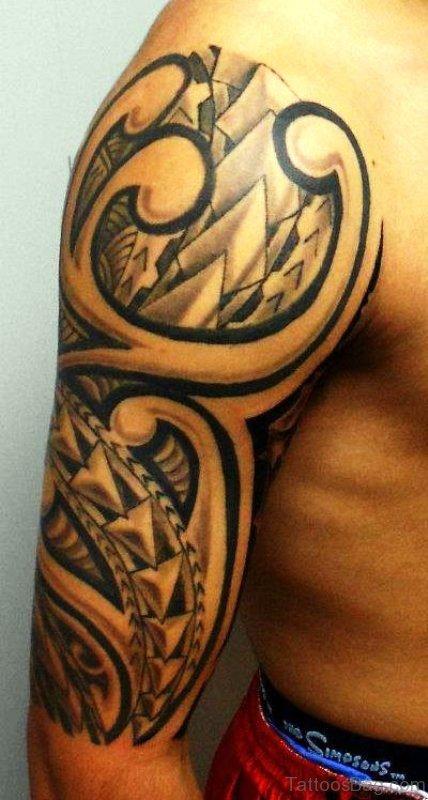 Elegant Tattoo On Shoulder
