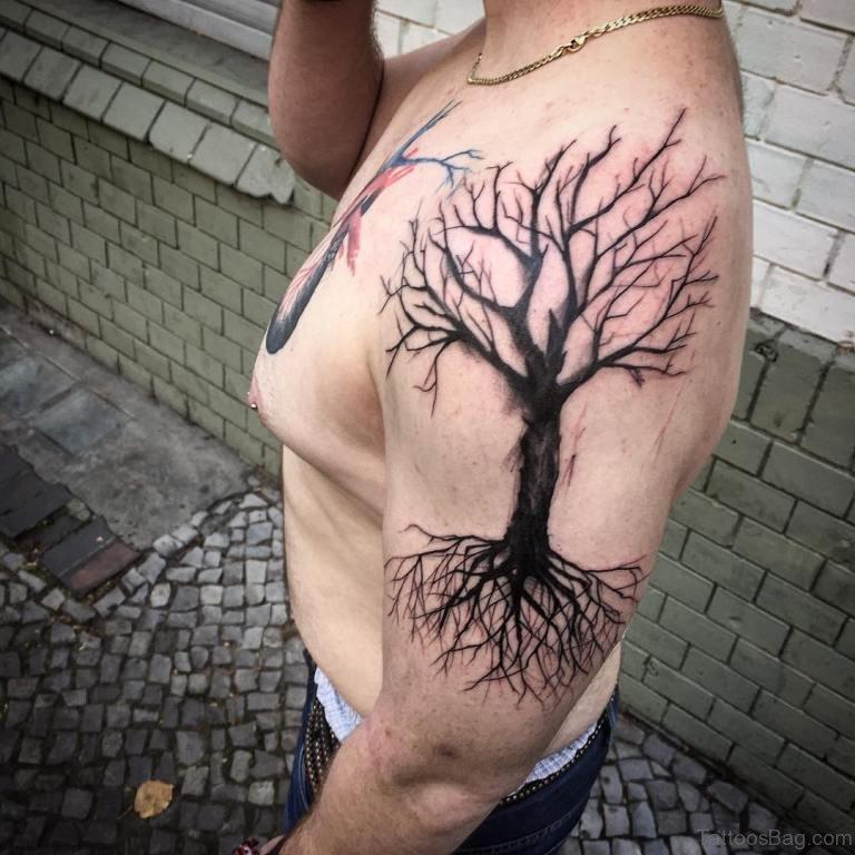 2f9633637 50 Stylish Tree Tattoos On Shoulder