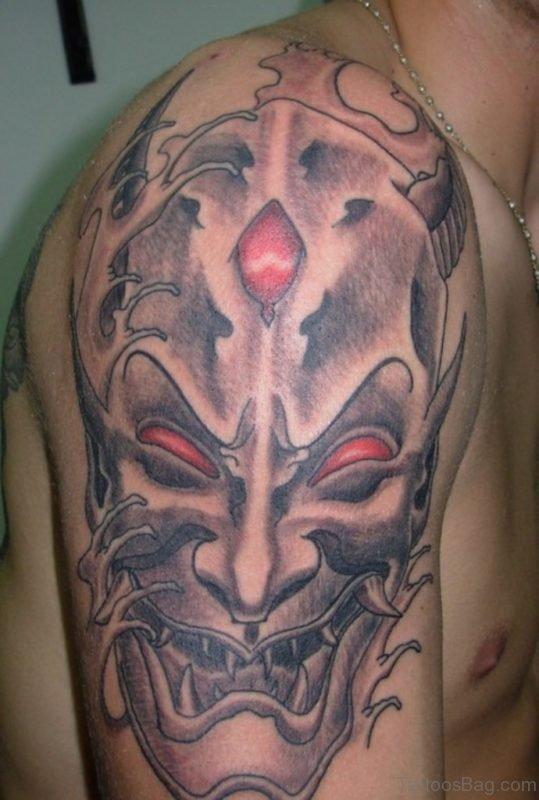 Elegant Venetian Mask Tattoo Design