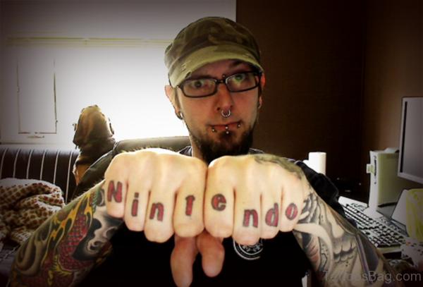 Elegant Wording Tattoo