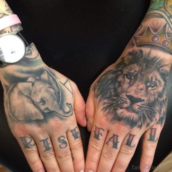 Elephant Lion Tattoo