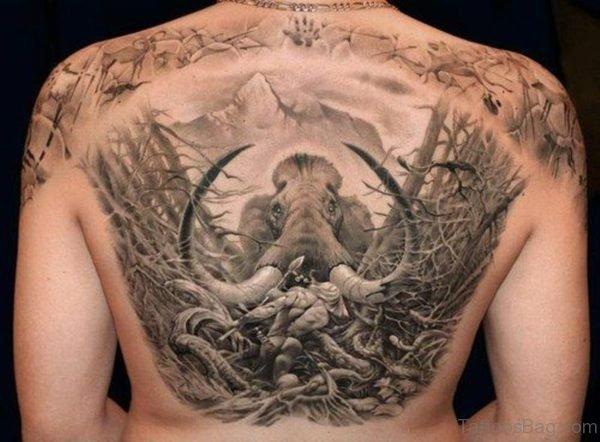 Elephant Tattoo Design On Back