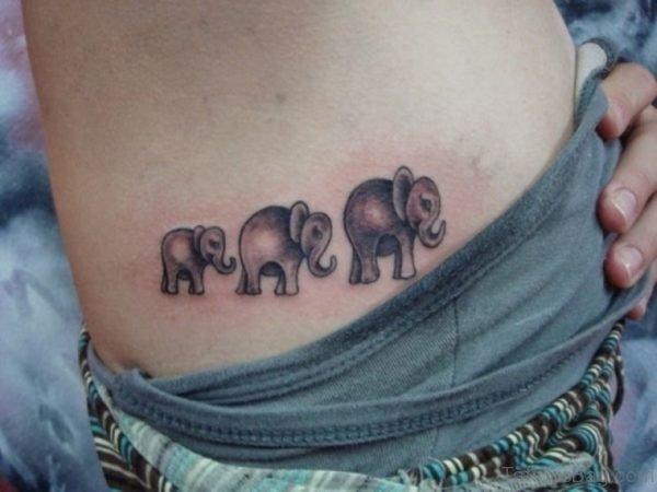 Elephant Tattoo Design On waist