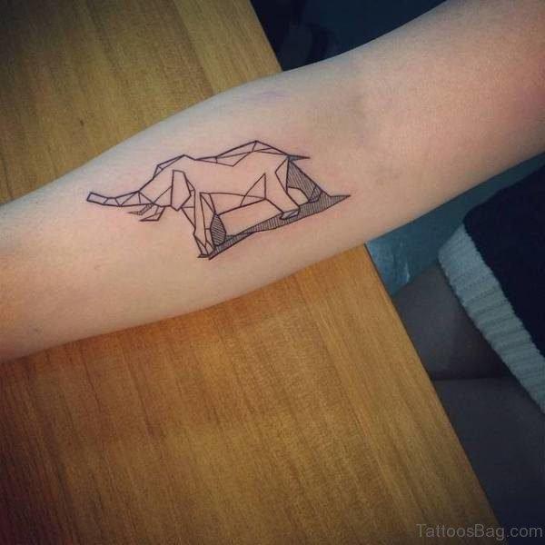 Elephant Tattoo On Forearm