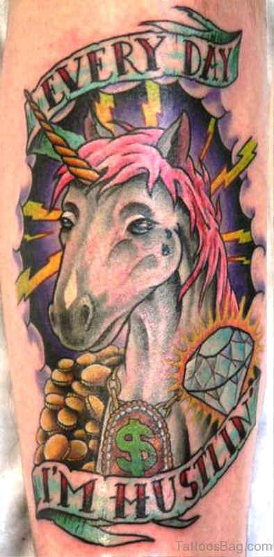 Everyday Unicorn Tattoo On Arm