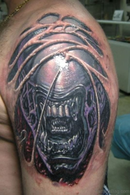 Evil Alien Tattoo