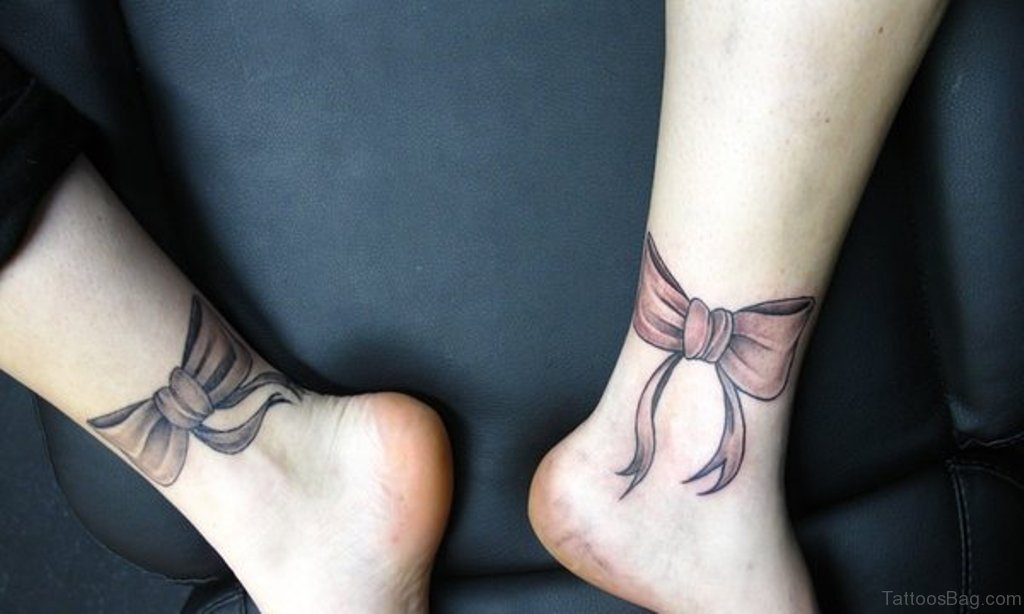 51 glorious bow tattoos on ankle. Black Bedroom Furniture Sets. Home Design Ideas