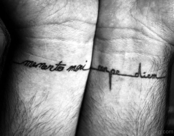 Excellent Carpe Diem Tattoo On Wrist