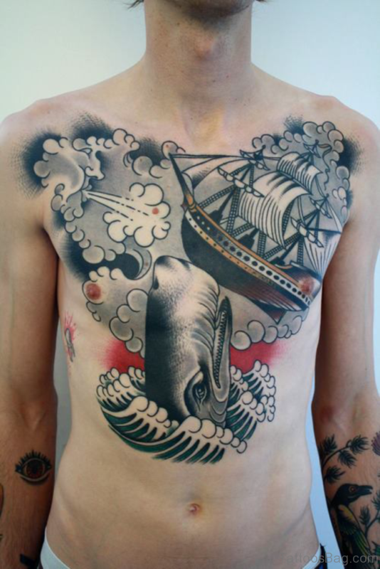 Excellent Chest Tattoo