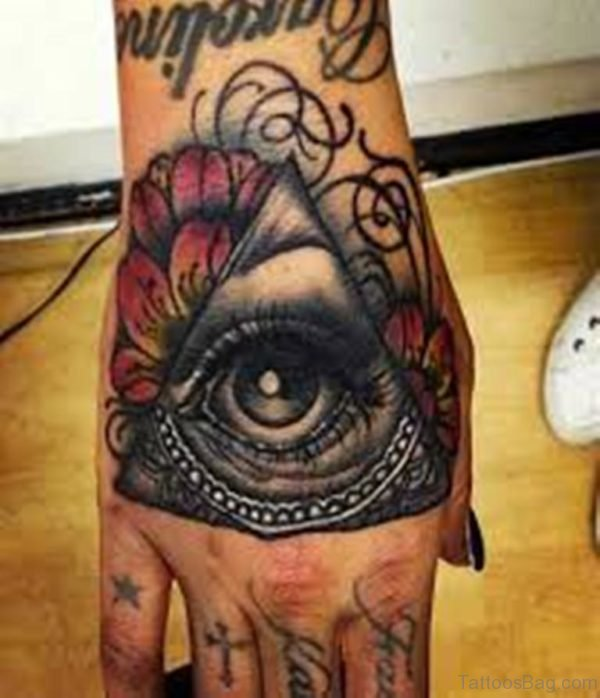 Excellent Eye Tattoo On Hand