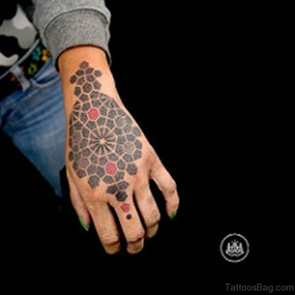 Excellent Geometric Tattoo On Hand