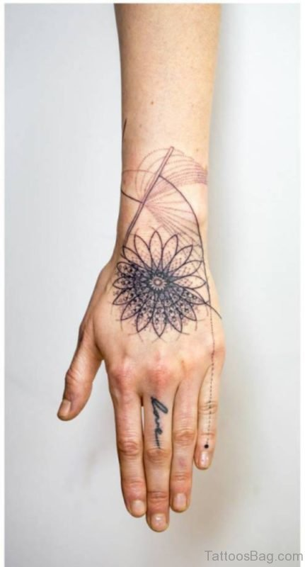 Excellent Mandala Tattoo Design For Hand