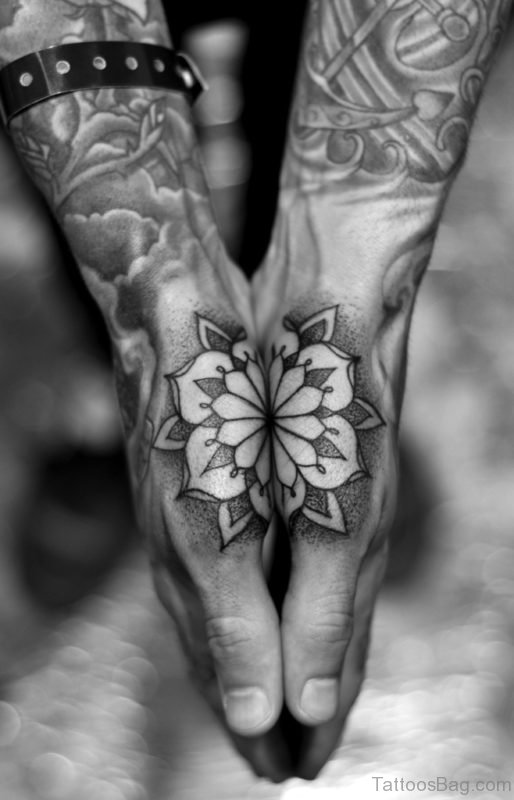 Excellent Mandala Tattoo Design On Hand