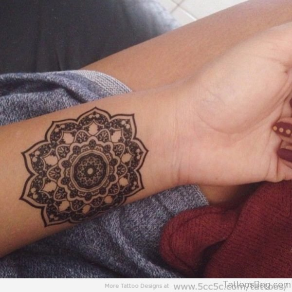 Excellent Mandala Tattoo On Wrist