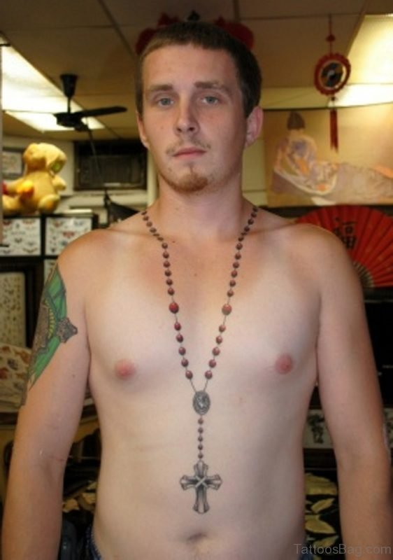 Excellent Rosary Tattoo