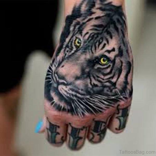 Excellent Tiger Tattoo Design