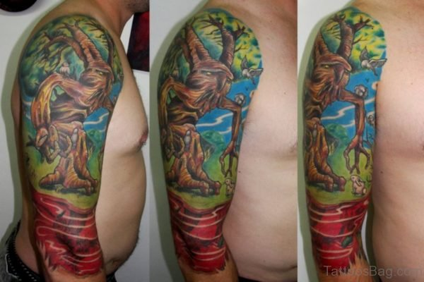 Excellent Tree Tattoo On Shoulder