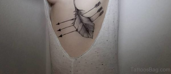 Exotic Arrow Tattoo On Rib