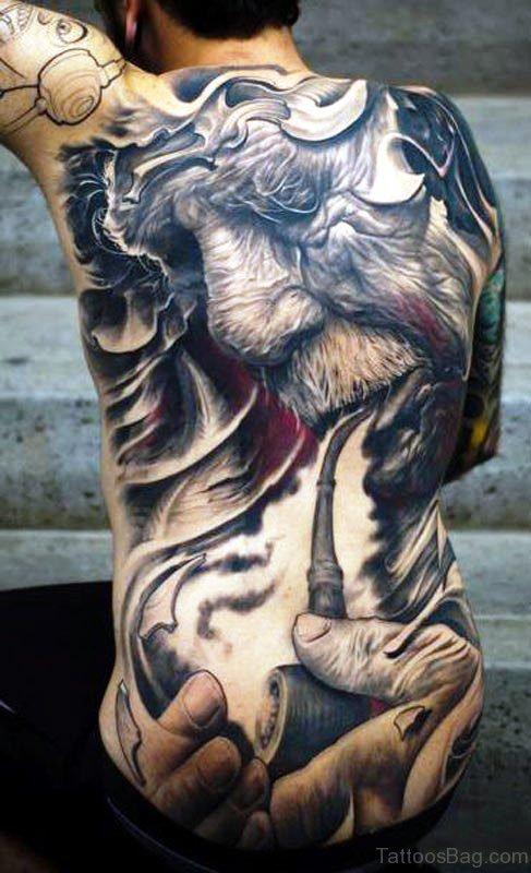 Extreme Addiction Tattoo On Back