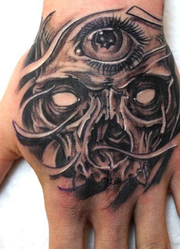 Eye And Skull Tattoo