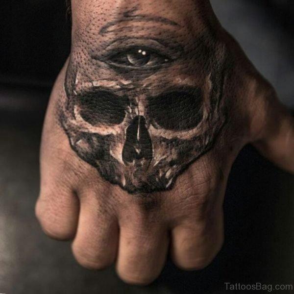 Eye Skull Tattoo On Hand