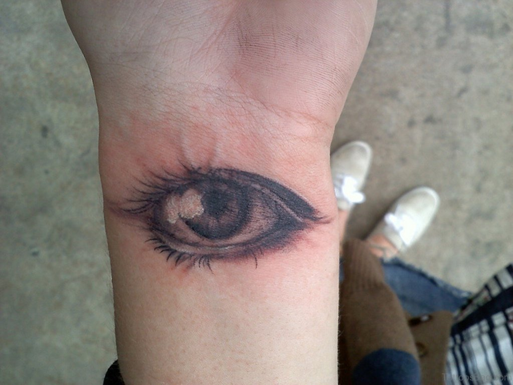 41 best eye tattoos for wrist for Tattoos in the eye