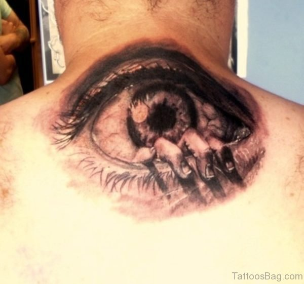 Eye Tattoo On Back