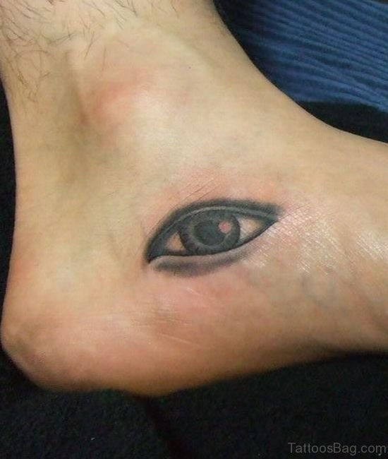 Eye Tattoo On Foot