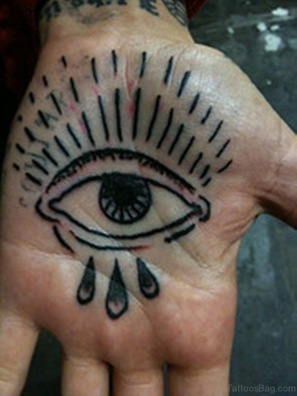 Eye Tattoo On Palm Hand