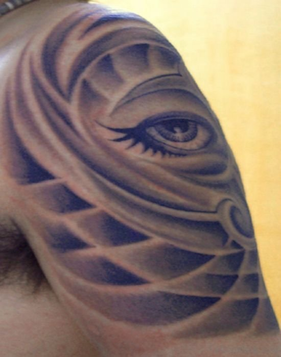 Eye Tattoo On Shoulder