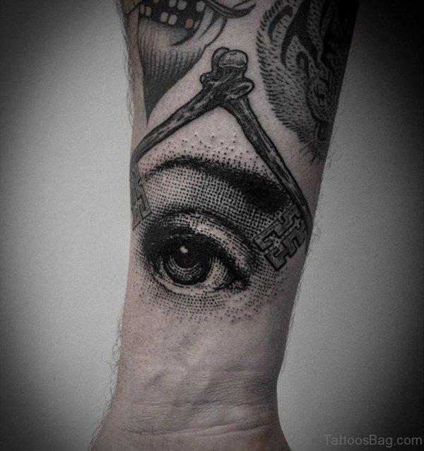 Eye Tattoo On Wrist