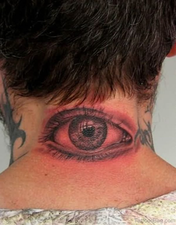 Eye Tattoo on Nape