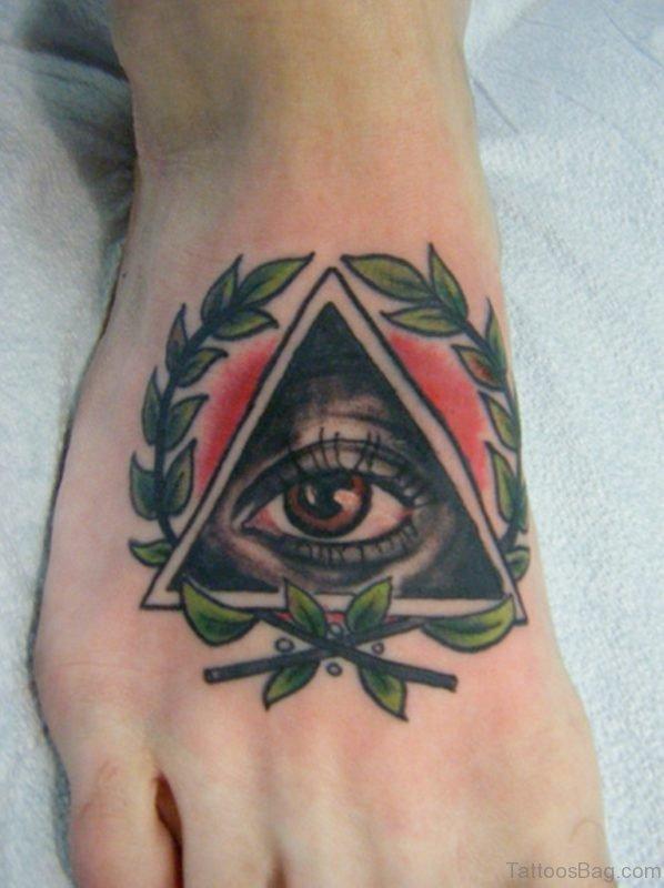 Eye Triangle Tattoo