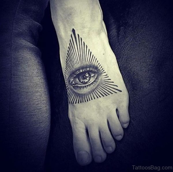 Eye of Providence Foot Tattoo