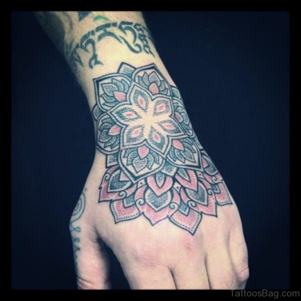Fancy Mandala Tattoo On Hand