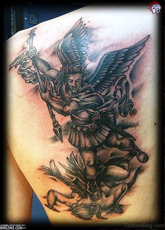Fabulous Archangel Tattoo On Shoulder