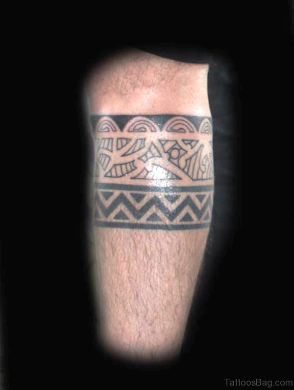 Fabulous Band Tattoo On Leg