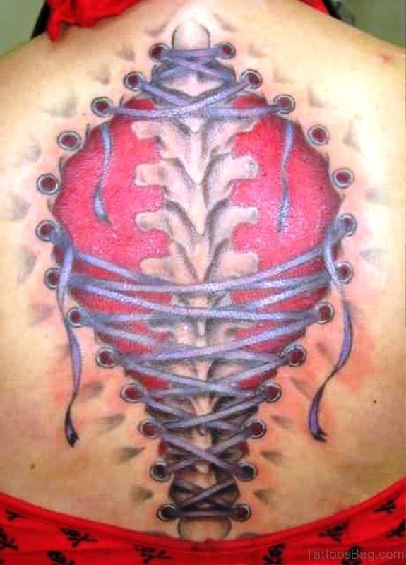 Fabulous Corset Tattoo On Back
