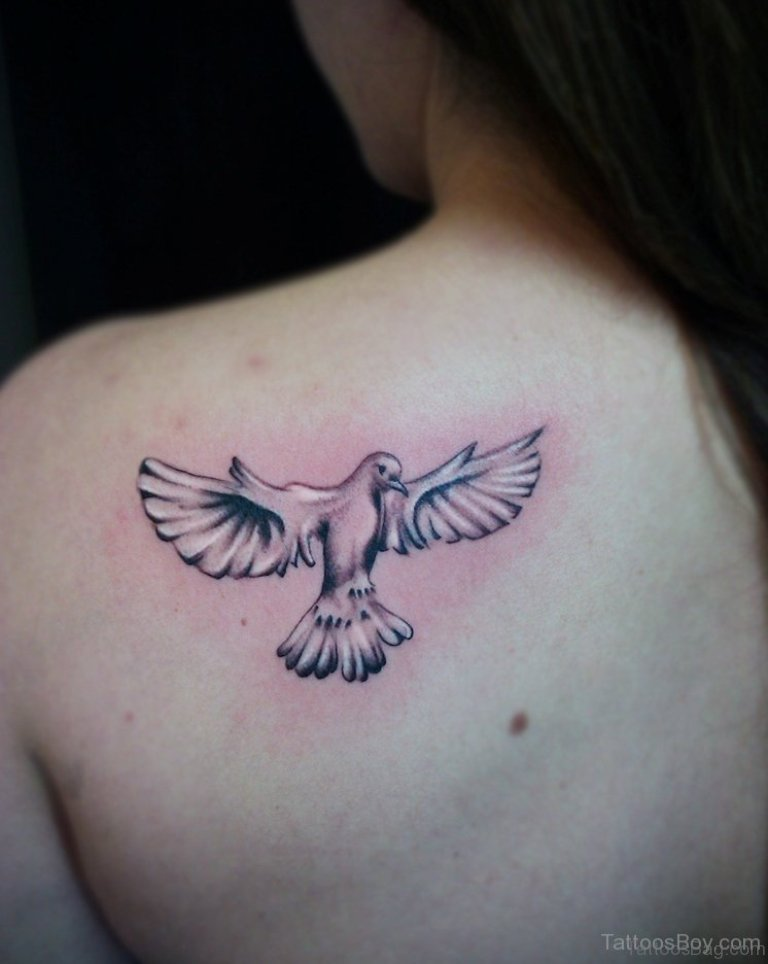 70 admirable dove tattoos for back. Black Bedroom Furniture Sets. Home Design Ideas